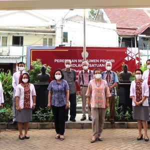 Berjasa di Bidang Pendidikan, Yayasan Kesatuan Resmikan Monumen Pendiri Sekolah Kesatuan Bogor