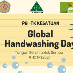 Kegiatan Mencuci Tangan Pakai Sabun PG TK Kesatuan